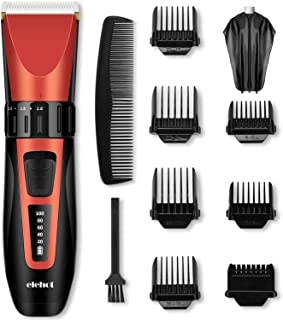 ELEHOT Hair Clipper Trimmer Cordless Cutting Grooming Kit LCD Display with Rechargeable Battery Stainless Steel Blades for Men & Women … (PR3088)