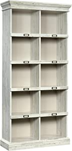 Sauder 423671 Barrister Lane Tall Bookcase, White Plank Finish