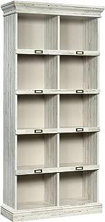 Sauder 423671 Barrister Lane Tall Bookcase, White Plank Finish