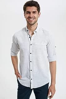 DeFacto Çizgili Slim Fit Gömlek