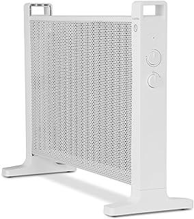 Klarstein HeatPalMica20 Calefacción eléctrica - Estufa, Mica, Calor rápido, 2000 W, 2 Niveles de Calor, Montaje en Pared, Baño, Silencioso, Ruedecillas Incluidas, Blanco