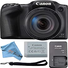 Canon PowerShot SX420 Digital Camera w/42x Optical Zoom - Wi-Fi & NFC Enabled (Black) ZeeTech Bundle (Cloth Only)