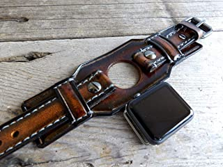 Apple Watch Band, apple watch strap, Brown watch strap, Apple watch cuff, Leather strap for Apple watch 38 or 42mm