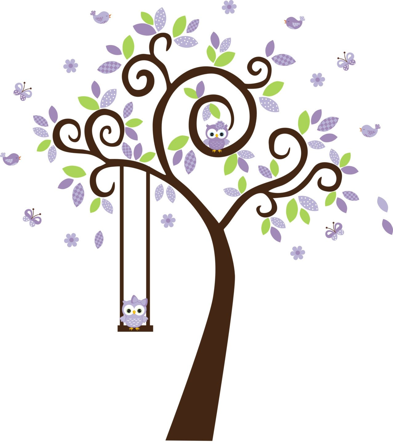 Purple 55% OFF Forest Wall Decals - Ranking TOP3 Purpl Girls Stickers Woodland
