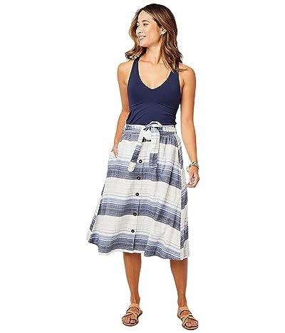 Carve Designs Amaya Skirt (Navy Sunrise Stripe) Women