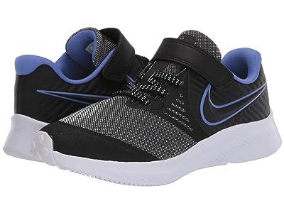 Nike Kids Star Runner 2 Glitter (Little Kid) (Black/Black/Sapphire/Lemon Venom) Kids Shoes