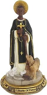 5 Inches Saint Martin of Porres Statue Holy Figurine Religious Decoration Estatua
