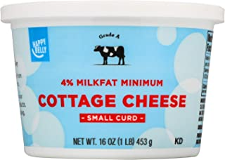 Amazon Brand - Happy Belly 4% Cottage Cheese, Small Curd, Kosher, 16 Ounces