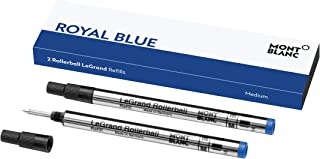 Montblanc Rollerball LeGrand Refills (M) Royal Blue 124503 – Pen Refills for Meisterstück LeGrand Rollerball Pens with a Medium Tip – 2 x Blue Pen Cartridges