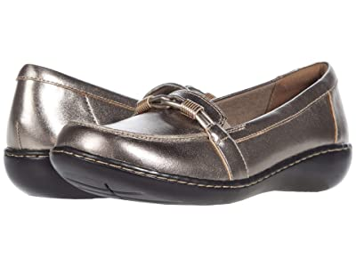 Clarks Ashland Ballot (Pewter Metallic Leather) Women
