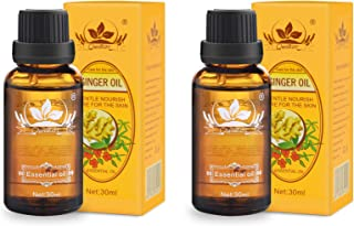 Ownest 2 Pack Ginger Massage Oil,100% Pure Natural Lymphatic Drainage Ginger Oil,SPA Massage Oils,Repelling Cold and Relax...