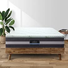 Giselle Bedding Cool Gel 7-Zone Memory Foam Mattress Topper w/Bamboo Cover 8cm - King
