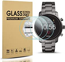 Diruite 3-Pack for Fossil Q Explorist HR Gen 4 Screen Protector Tempered Glass for Q..