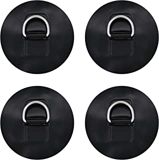 YYST D Ring Patch for PVC Inflatable Boat SUP W Stainless Steel D Ring - NO Glue - Instruction Included