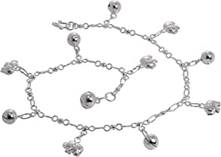 Bracelets De Cheville En Argent Avec Spirales Et 1 Sonnette Bijoux, Montres Bracelets De Cheville