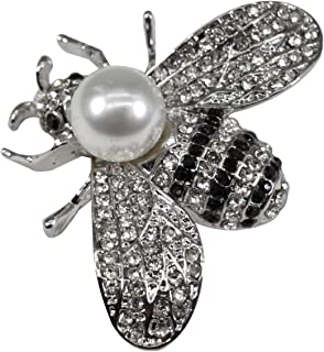 baf45ad12 ZUOZUOYA Cute Honey Bee Brooches - Lovely Insect Themes - Fashion Mother of  Pearl Brooch Pins