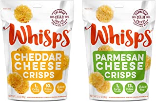 New! Whisps Parmesan & Cheddar Cheese Crisps Bundle (2.12 oz bags)