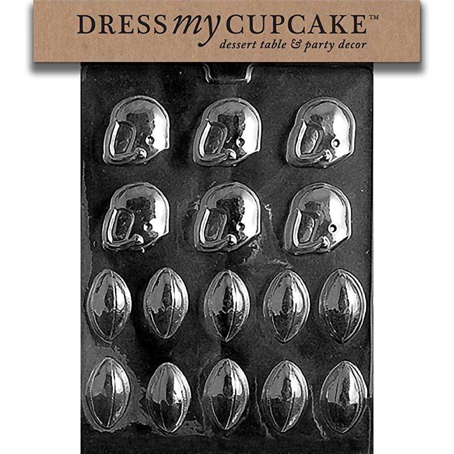 Dress My Cupcake Chocolate Candy Mold, Footballs and Helmets, Foot