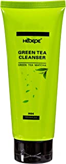 Hebepe Green Tea Matcha Daily Facial Cleanser, Face Wash with Collagen, Vitamin C, Vitamin E, Citrus Peel E...