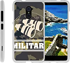 TurtleArmor | Compatible with ZTE Imperial Max Case | Max Duo Case [Slim Duo] Ultra Slim Lightweight Hard Matte Grip 2 Piece Snap On Cover on White War and Military - Military Binoculars