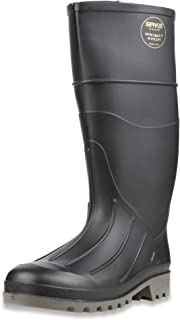 "Servus Iron Duke 15"" PVC Polyblend Soft Toe Men's Work Boots, Black & Gray (18802)"