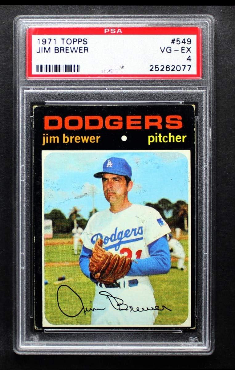 1971 Topps In stock # 549 Jim Brewer Popular standard Baseball Dodgers Los Card Angeles
