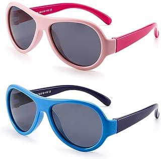 Kids Rubber Polarized Sunglasses Unbreakable Children Girls Boys Age 3-6