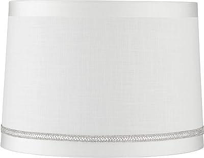 White Horizontal Pleat Drum Small Shade 11x11x7 5 Spider