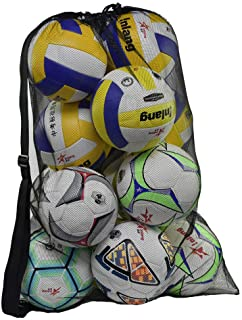 Rudmox Heavy Duty Mesh Ball Bag,Drawstring Sport Equipment Storage Bag for Basketball, Soccer, Sports Beach and Swimming G...