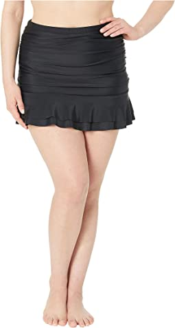 Plus Size Skirted High-Waist Alice Swim Bottoms