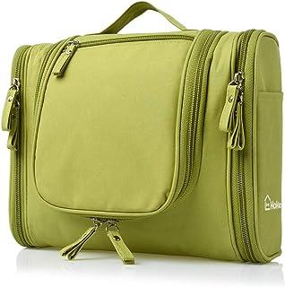 Heavy Duty Waterproof Hanging Toiletry Bag - Travel Cosmetic Makeup Bag for Women & Shaving Kit Organizer Bag for Men