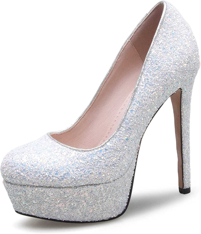 CHENSIR9 Women's Comfort Classic Slip High Heel Plaform Dress Pump shoes