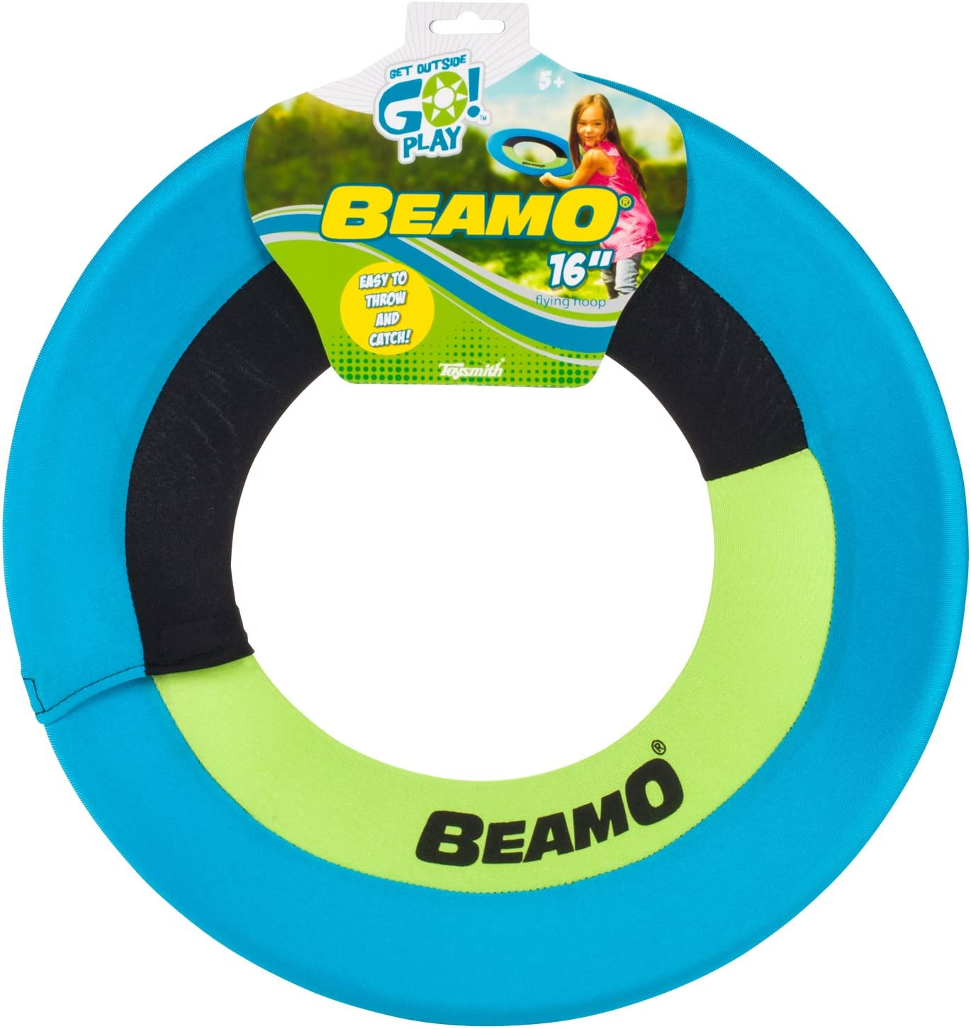 Amazon.com: Toysmith Get Outside GO! Mini Beamo Flying Hoop (16-Inch), Colors may vary : Toys & Games