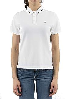 Tommy Hilfiger Polos For Women, L, White (DW0DW05933)