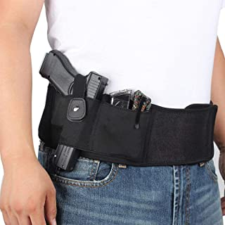 Band Holster for Concealed Carry, Hamkaw Gun Holsters for Men Women, One Holster Fits Most Pistols & Revolvers Belly Band Pistol Holster
