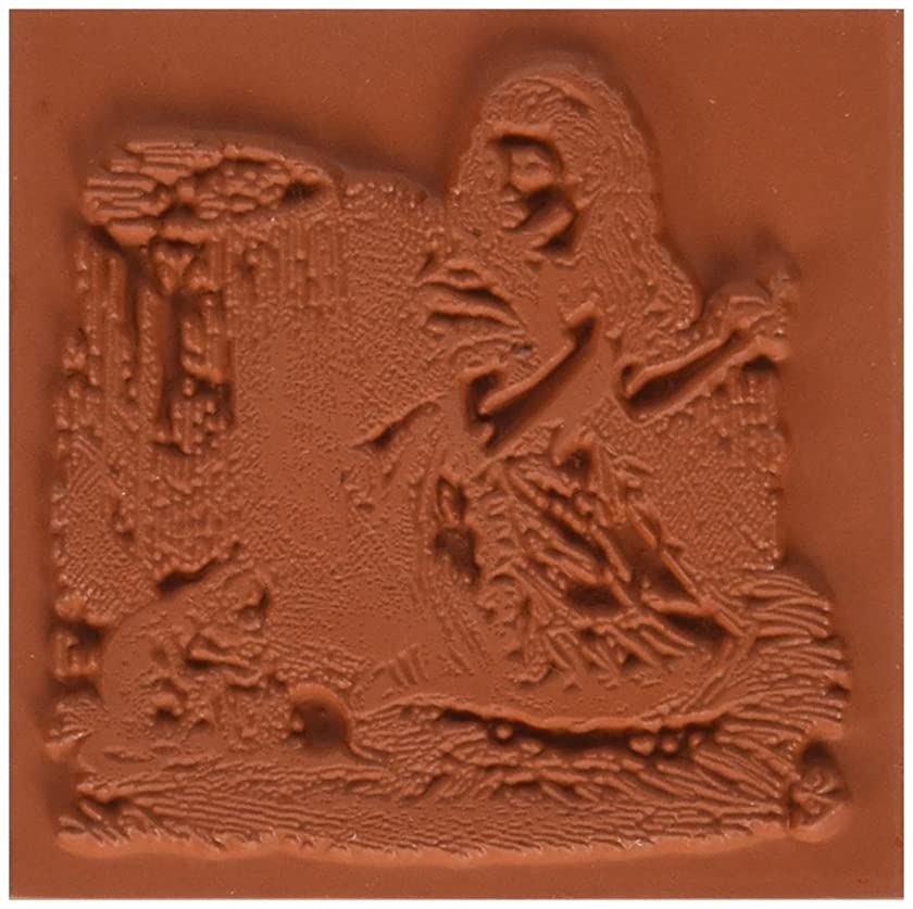 Deep Red Stamps Alice with Kittens Rubber Stamp