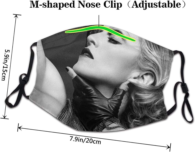 madonna Face Bandanas UV Protection Reusable Face Cover Shield Headbands Adult Face Bandanas Washable for Men and Women