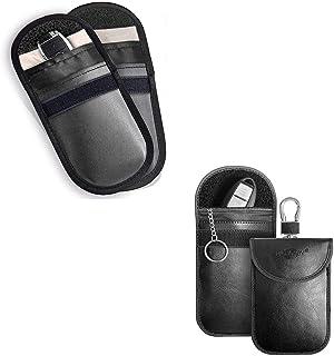 MONOJOY Faraday Key Fob Protector 4 Pack Faraday Bag 2 of Them with Hook Keyless Signal Blocking Pouch Anti-Theft