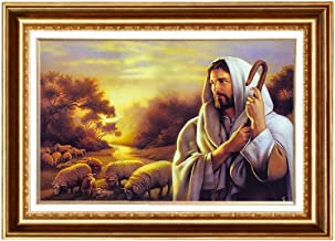 Eliteart- Jesus Christ Shepherd Giclee Gallery Art Canvas Prints Home Decoration Framed Size:36