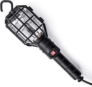Famatel 2410 portátil con Interruptor | Lámpara de Trabajo | 100W | con Cable 5 m | Bombillas E27 | Producto Certificado con CE | Negro