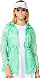 TFO Women's Printed Anti UVA UPF 40+ Outdoor Jacket Packable Thin Windbreaker Hooded Skin Coat