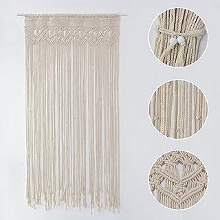 comprar comparacion Zebroau – Tapiz de macramé de pared, tejido a mano bohemio – Cortina de cuerda de algodón – Cinta de macramé hecha a mano ...