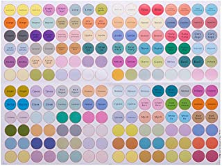 Ownsig 1 Sheets of 192 Stickers Essential Oil Decals Labels Water-Resistant Bottle Cap Chinese English Empty Dots 13mm DIY 02#(English&Empty)