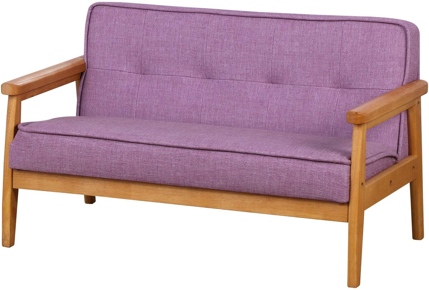 Double Seater Kid sold out Sofa Chair Couch Wood with and Discount is also underway Solid Arm
