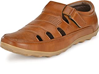 Centrino Tan Sandals & Floaters-Men's Shoes