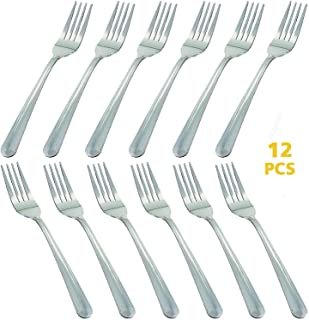 12 Piece Dinner Forks Silverware Set, Dominion Heavy Duty Forks, Stainless Steel Salad Forks Multipurpose Use for Home, Kitchen or Restaurant, 7 Inches