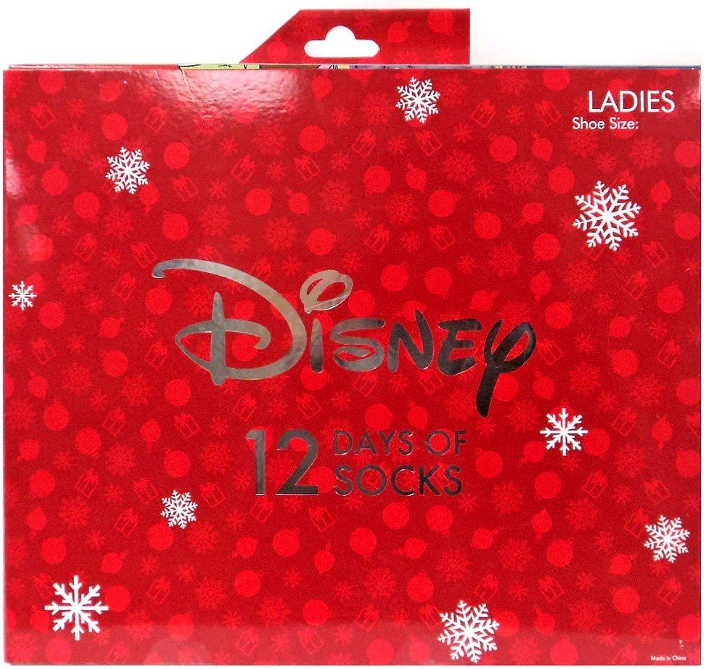 12 Days of Socks Women's Disney Size 410 Advent Calendar Stocking Stuffer
