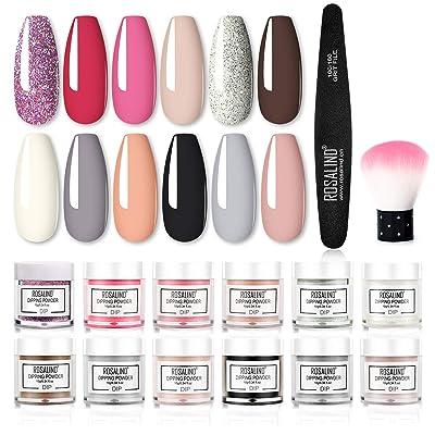 Nail Dip Powder Colors Kit Rosalind with 12 Colors