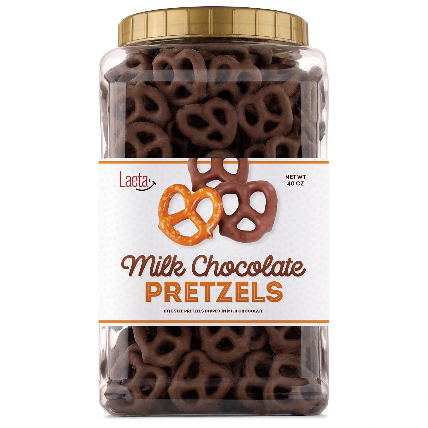 LaetaFood Milk Spring new work Chocolate Covered Popular popular Salted Sm Pretzels in