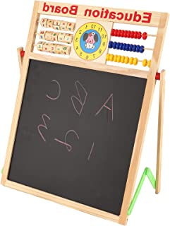 Art Easel Whiteboard, Double Sided Magnetic Drawing Board for Writing for Arithmetic Calculation Graffiti